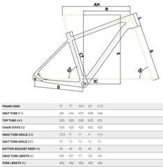 Géométrie BIG SEVEN XT Carbone 2015