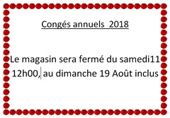 Congés annuels 2018