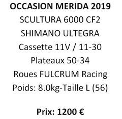 OCCASION SCULTURA 6000 CF2 T.56 - 2019.