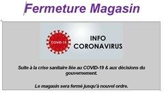 Fermeture magasin COVID-19